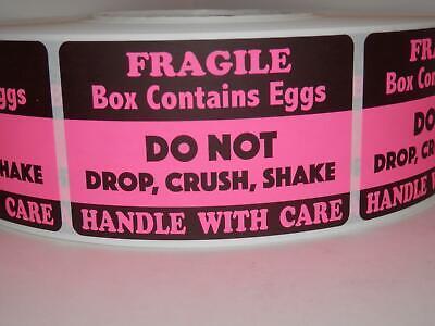 FRAGILE HANDLE//CARE DO NOT DROP CRUSH BREAK SHAKE fluor green label 250//rl