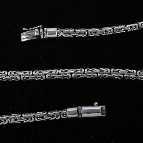 Lourde Bzantine Collier à Chaîne en Argent Sterling 925 50.8cm 6 mm 80 Grammes