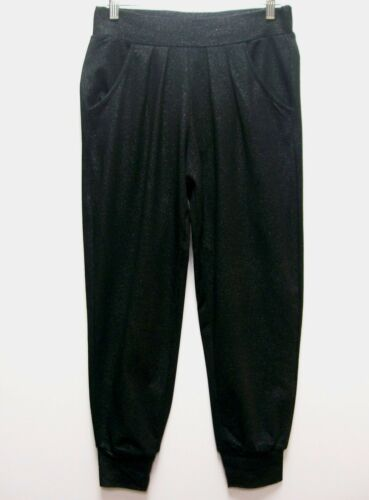 Queen Collection Latifah Cropped Knit Lounge Pants $59.90 BLACK