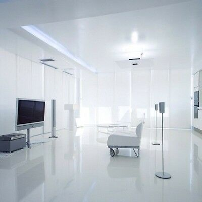 Super Gloss White Laminate Flooring Sylent System Made In Germany