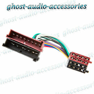 ford mondeo iso car radio stereo harness adapter wiring connector ebay mazda 3 radio harness connectors image is loading ford mondeo iso car radio stereo harness adapter