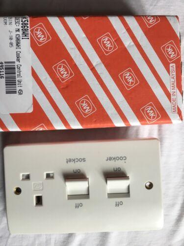 MK K5060WHI Cuisinière Unité de contrôle DP 45 A Switched Socket 13 A blanc