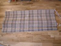 NEXT COUNTRY CHECK ARCHIE WOVEN  ROMAN BLIND + FIXTURES 180X120CM  HUGE