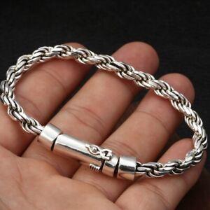 20cm Solid 925 Sterling Silver Bracelet