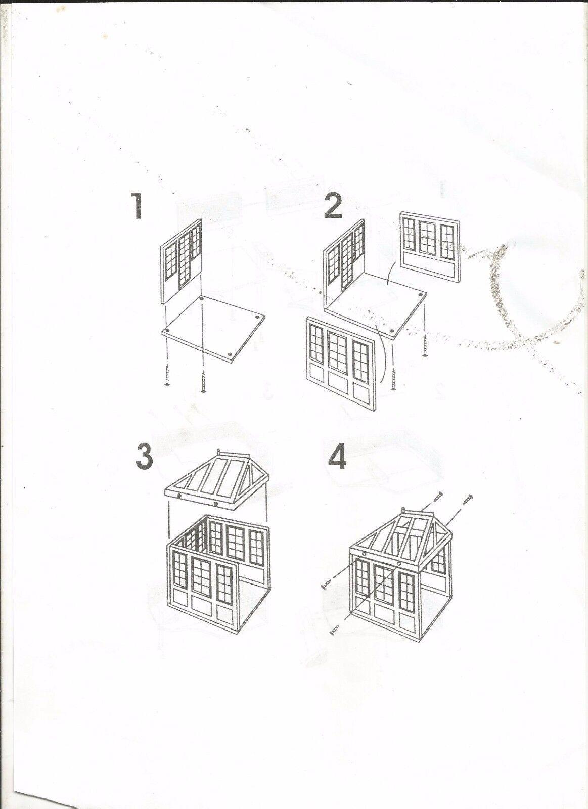 MAISON DE POUPEE - TOITURE + MUR + + + COTE (le tout dans son emballage d'origine) 3d2385