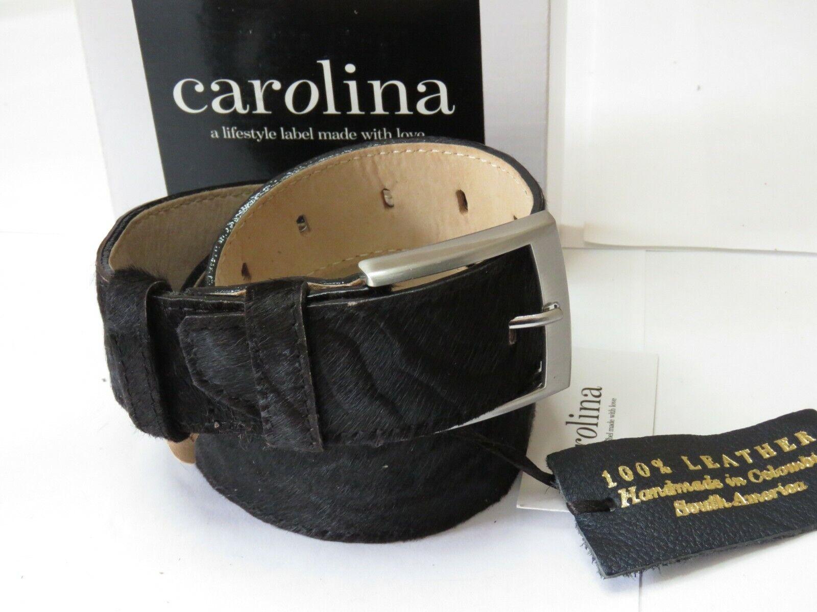 Carolina Leather Belt Jeans Textured Zebra 100% Leather Size L/XL 120cm