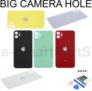 Per-Apple-iPhone-11-BATTERIA-DI-RICAMBIO-COPERTURA-IN-VETRO-CON-FORO-GRANDE-MACCHINA-FOTOGRAFICA