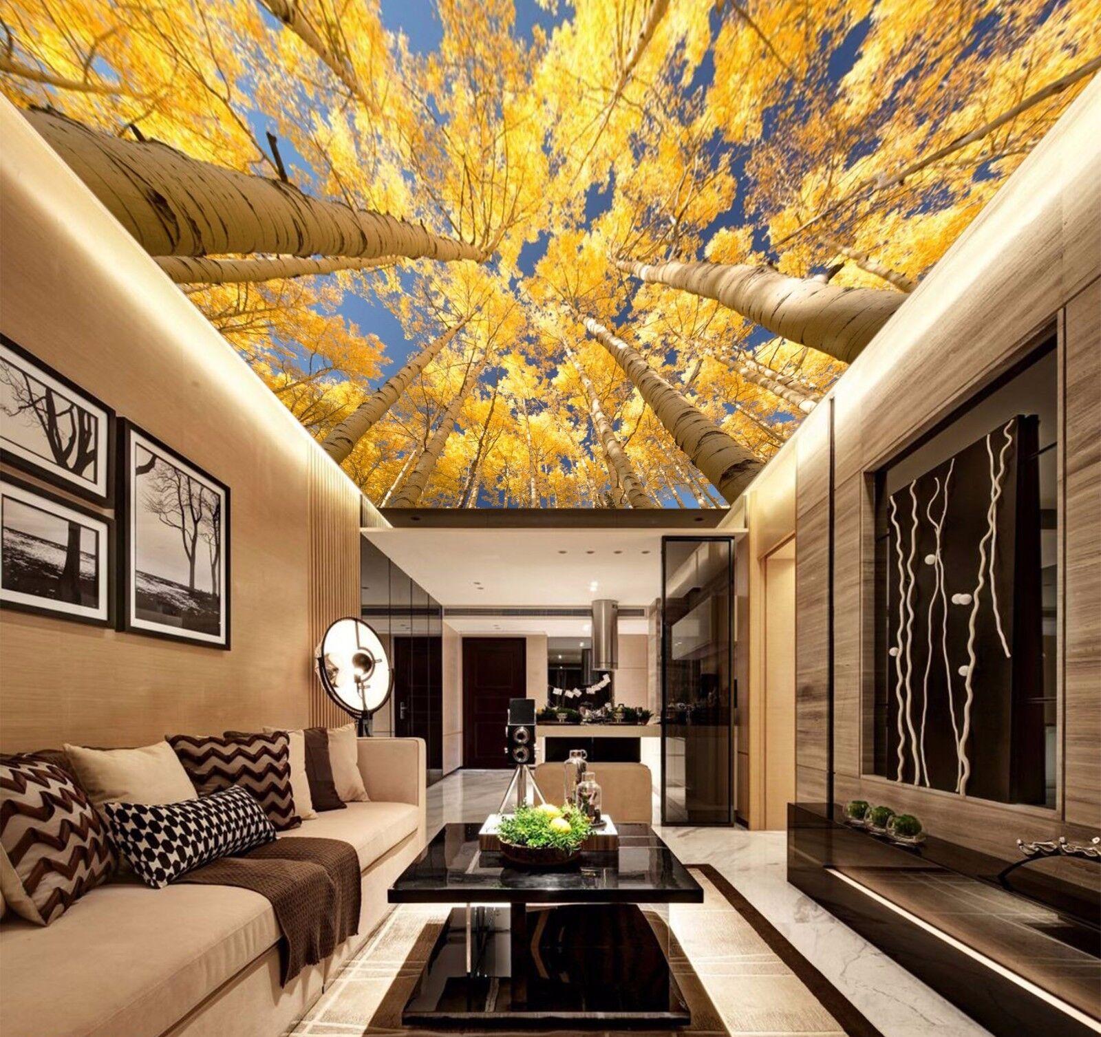 3D Gelb Baum Wald 608 Fototapeten Wandbild Fototapete BildTapete DE Lemon