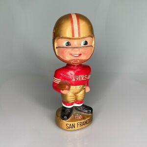 1960-039-s-VINTAGE-SAN-FRANCISCO-49ers-FOOTBALL-BOBBLE-HEAD-NODDER-JAPAN-GOLD-BASE