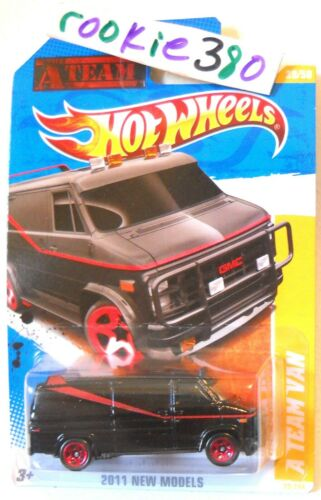 2011 Hot Wheels NEW MODELS #39 A-TEAM GMC BLACK 1980/'s ICON van US LC BiN