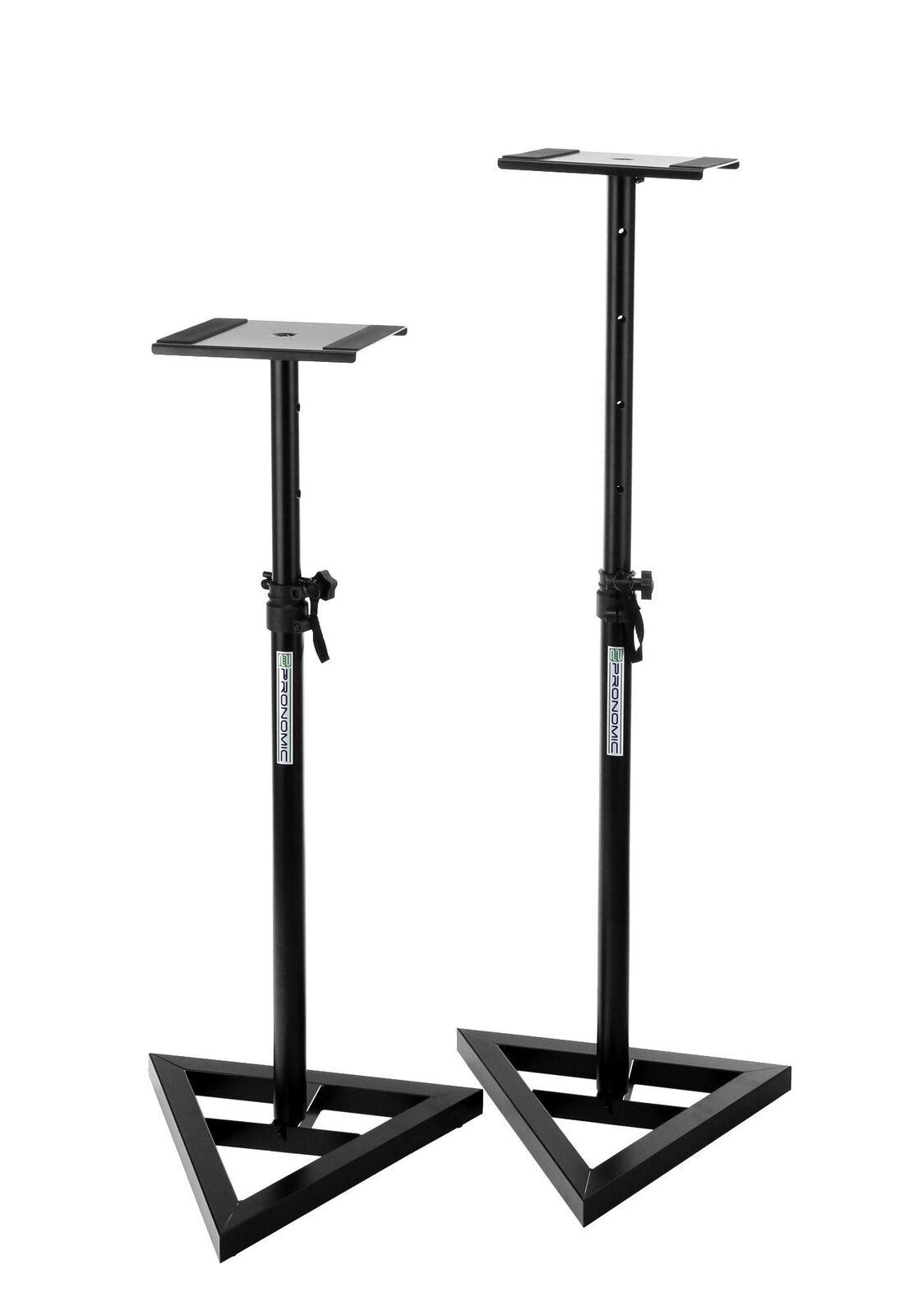 Pair Stable DJ PA HiFi Speaker Stands Studio Monitor Table Height Adjustable Set