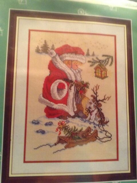 Eva Rosenstand Clara Waever Playing Santa Christmas Cross Stitch Kit Child