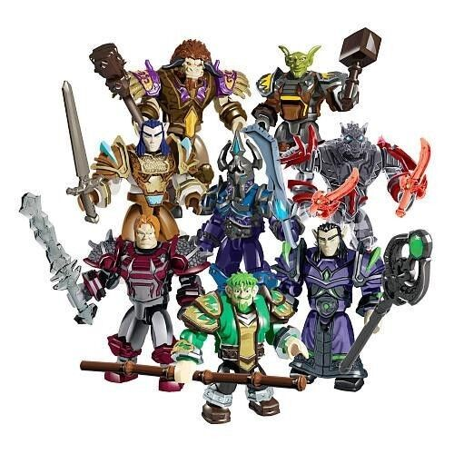 MEGA BLOKS WORLD OF WARCRAFT SERIES 1 91100 MINI COLLECTIBLE FIGURES SET 8