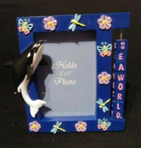 Seaworld-Shamu-souvenir-picture-frame-3-x-3-1-2-new