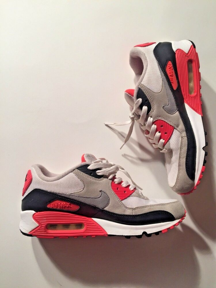 Men's Nike Air Max 90' Infared blanc Cement Ultra EM SE 325018 107 Taille 7.5 S68