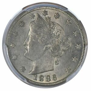 1886 Liberty Nickel PCGS AU55