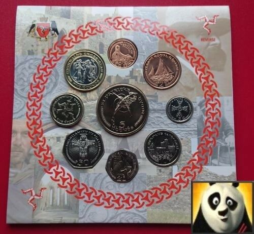 2003 ISLE OF MAN IOM MANX Decimal Set 9 Coin Collection 1 2 5 Patrick Hymn