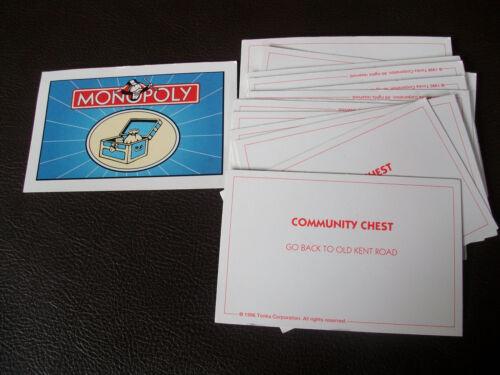 Monopoly spares pieces movers maisons argent cartes édition 1996 choisir parmi liste