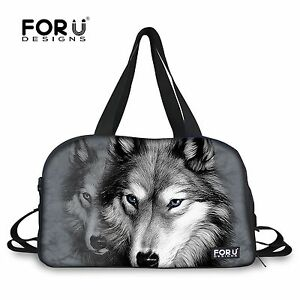 785087857b56 Casual Cool Wolf Duffle Sport Tote Yoga Fitness Travel Gym Bag ...