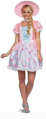 M L Toy Story 4 New Pink Bo Peep Halloween Costume Women/'s Adult S