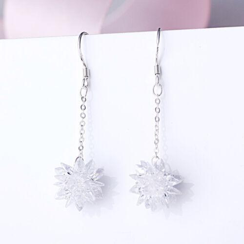 HOT Womens 925 Sterling Sliver PLT Drop Dangle Hanging Hook Earrings Hoop