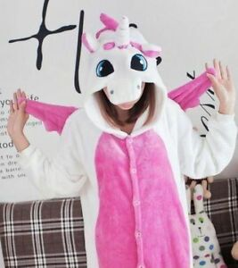 Unicorn Kigurumi Pajamas Animal Cosplay Costume Unisex Adult Sleepwear