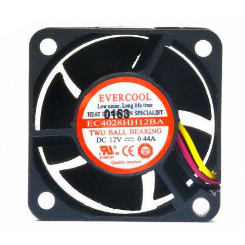 Evercool  40mm x 28mm Dual Ball High Speed Cooling Fan 3 pin EC4028HH12BA