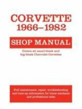 Corvette 1966-1982 Shop Manual~For the owner or professional mechanic~310pgs~NEW