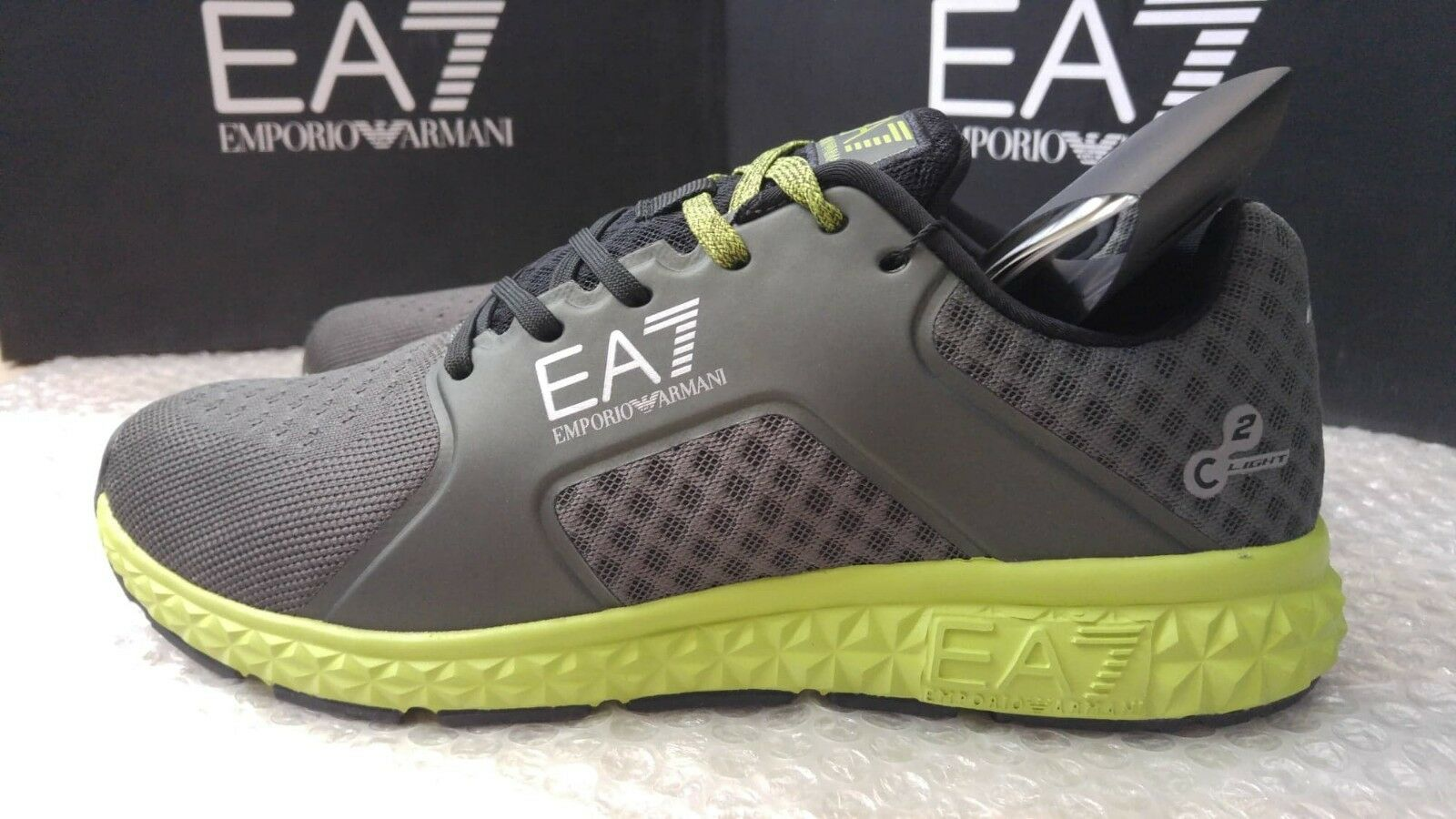 Emporio Armani EA7 men's spirit light trainers size 9UK(43) 9UK(43) size - Memory Foam Insole 256f4d