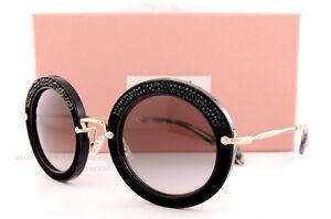 572ff87b562b4 Brand New Miu Miu Sunglasses MU 08R 08RS 1AB0A7 BLACK GRADIENT GRAY ...
