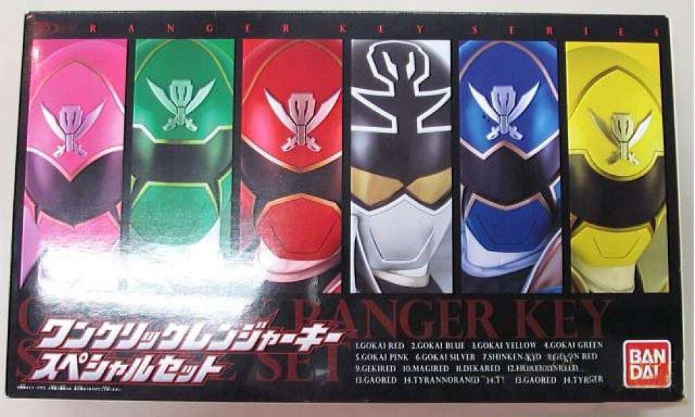 Envío rápido y el mejor servicio Power Rangers súper megaforc un clic Ranger clave conjunto conjunto conjunto Gokaiger limitada artículo Usado  vendiendo bien en todo el mundo