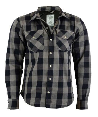 Protecteurs Chemise Neuf Shirt Lumberjack Chemise Moto Motard Gris incl