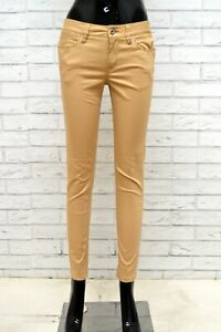 Pantalone-Donna-GUESS-NICOLE-Taglia-27-Jeans-Pants-Woman-Slim-Skinny-Fit-Marrone