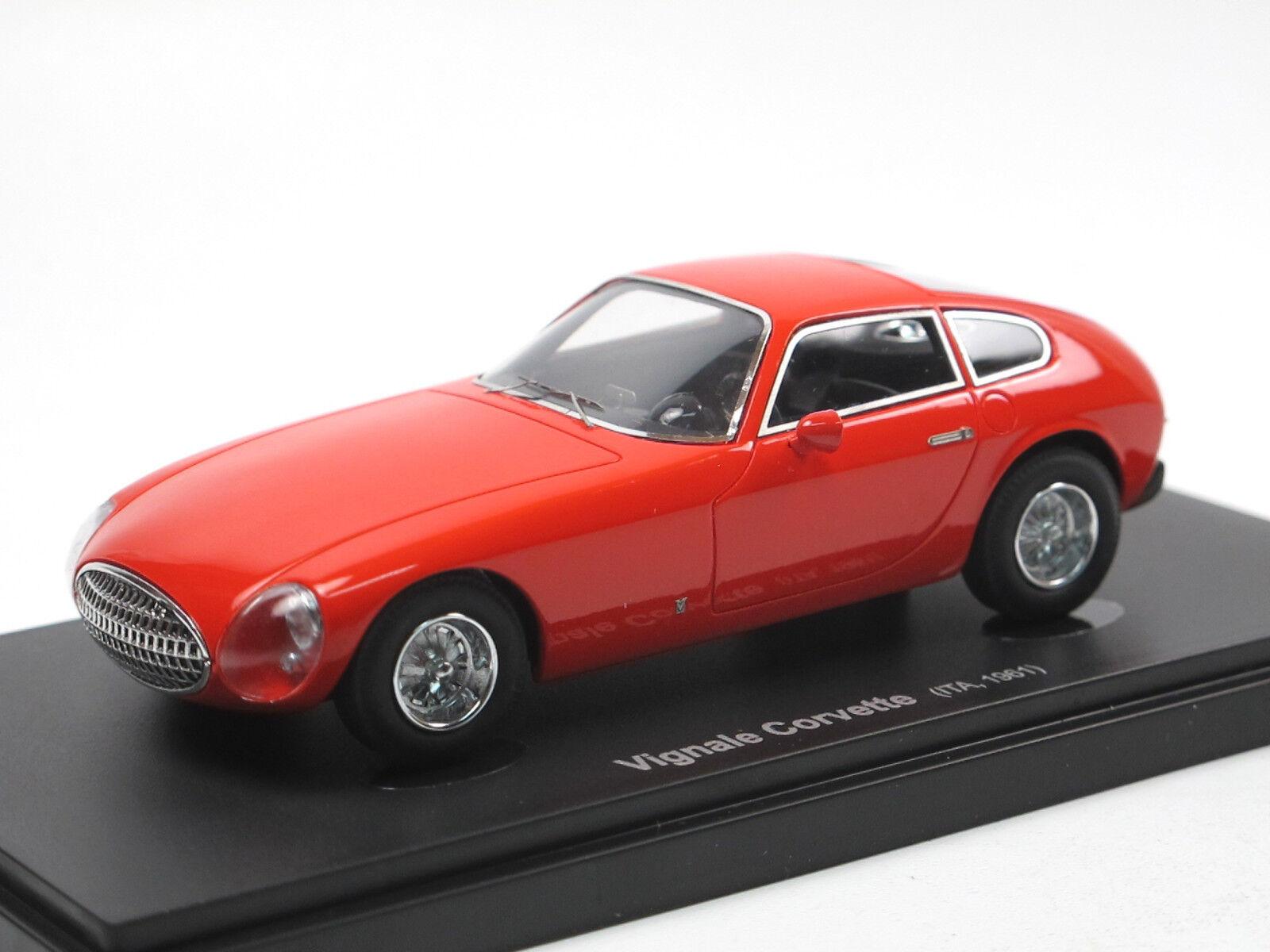 Avenue 43   autocult - 1961 kelly corvette von vignale rot 1 43 limited edition