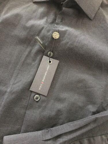 john varvatos Shirt NWT 17 L Black Strech