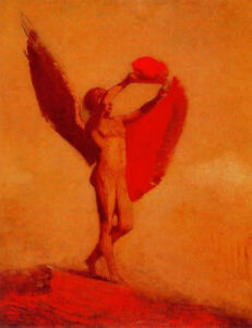 Icarus-by-Odilon-Redon-Handmade-Oil-Painting-Reproduction-on-Canvas-24-034-x-32-034
