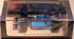 Modèle d'étincelle 1:43 Ligier Js27 6ème Gp mexicain 1986 Phillipe Alliot S4266 8944634581011