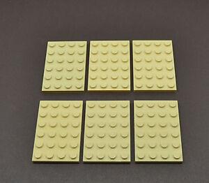 1 X Lego 3032  Plate 4 x 6 tan