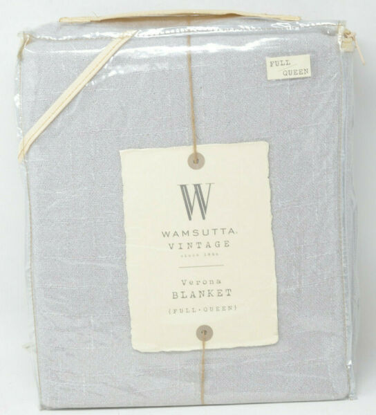 Wamsutta Vintage Verona Full/queen Blanket In Grey Non-Strijkservice