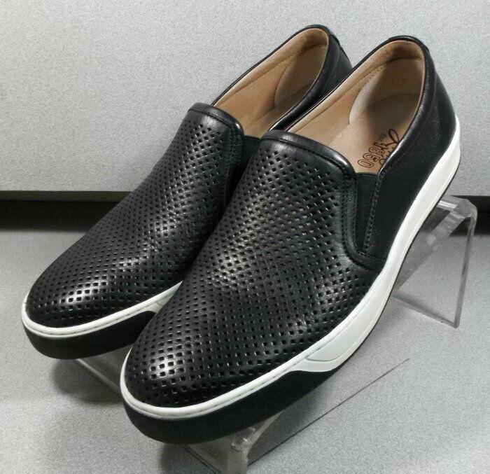 202501 ES50 Chaussures Hommes Taille 12 M Noir Cuir à Enfiler Johnston & Murphy
