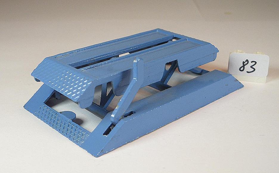 50 60´s service Ramp Pont leve métal car service bleu bleu bleu made in England  083 cc5fc1