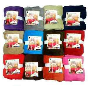 Super-Soft-Luxurious-Fleece-Throw-Blanket-12-Solid-Colors-Queen-amp-Full-Size