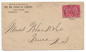 1897-Canada-Cover-w-Nicely-Centered-3-cent-Jubilee-Stamp-to-Nova-Scotia