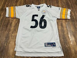 LaMarr Woodley Pittsburgh Steelers Reebok Sewn NFL Football Jersey - Youth Large