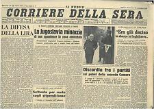 CORRIERE DELLA SERA 29 SETTEMBRE 1946 GIORNALI DELLA REPUBBLICA