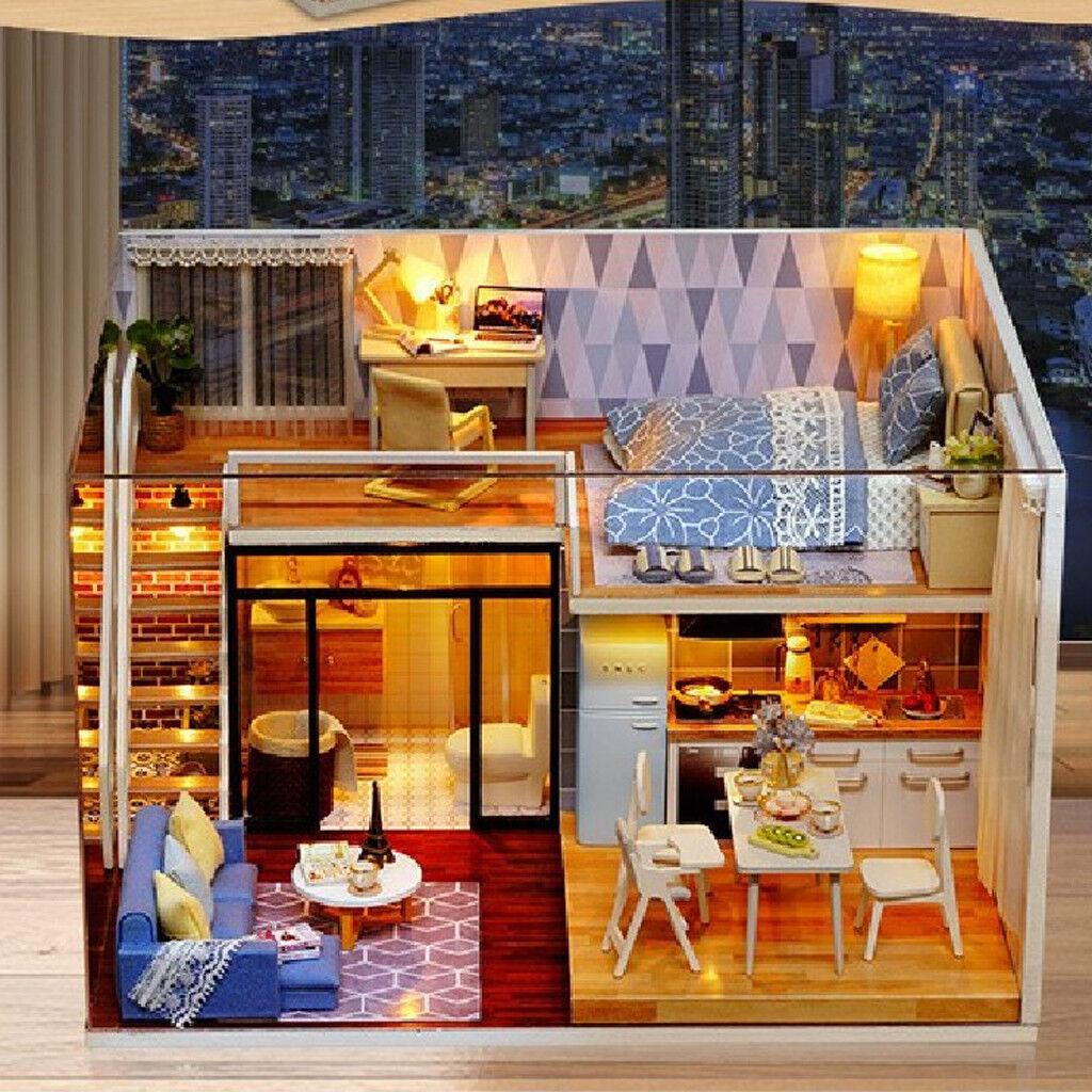 seguro de calidad Hazlo TÚ TÚ TÚ MISMO Casa de Muñecas en Miniatura 1 24 Casa De Muñecas Muebles Kit Accs-Azul veces  ventas en linea