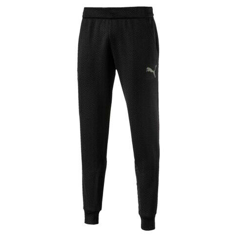 Puma Mens WinTech Fleece Sweat Joggers Track Pants Black 515669 01 A44B