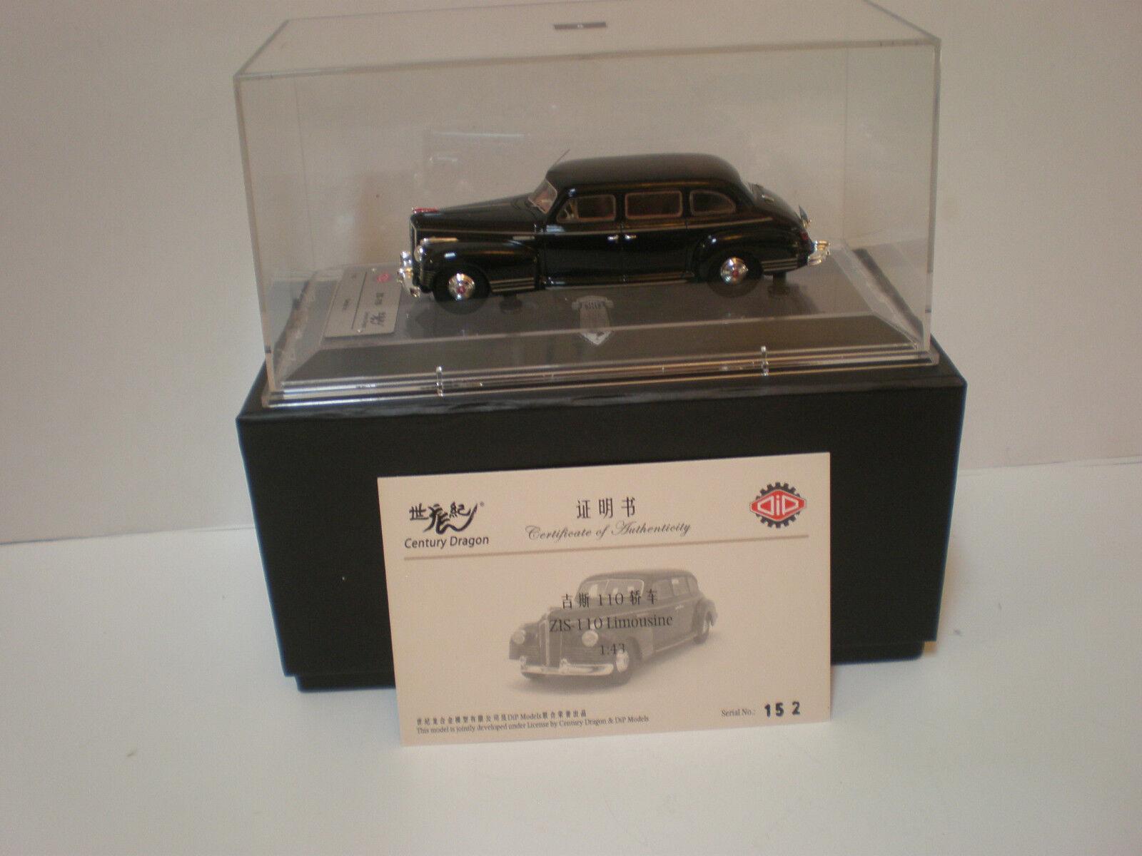 1 43 Modelos Dip ruso limusina ZIS-110 1945 negro Edición Limitada de 252 piezas.