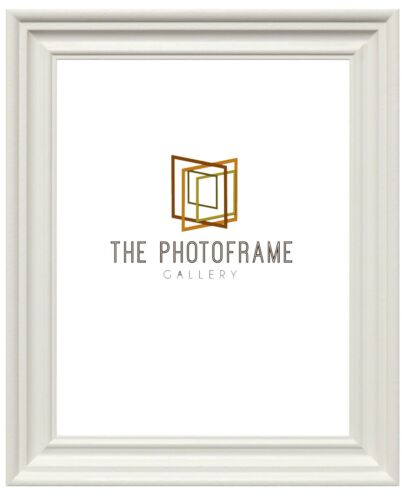 New Swept Photo Frames Traditional Picture Poster Frames Wood Effect Black White