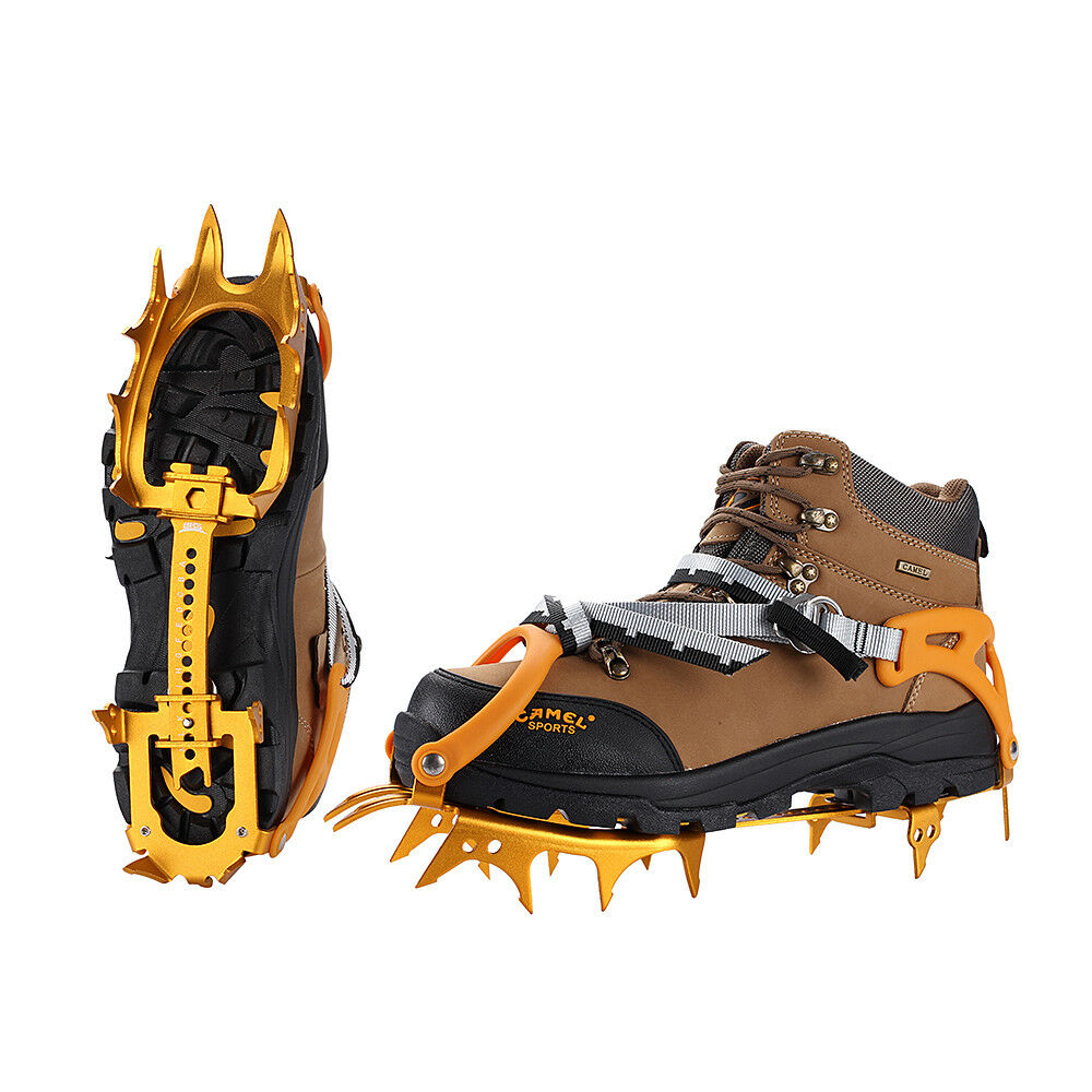 BRS Ice Snow Crampons Gripper Aluminium Climbing 14 Teeth Cleats Spike shoes
